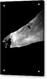 Climber Silhouette 1 Acrylic Print by Chase Taylor