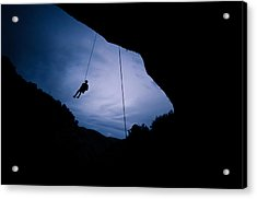 Climber Silhouette 2 Acrylic Print by Chase Taylor
