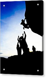 Climber Silhouette 3 Acrylic Print by Chase Taylor