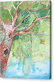 Climbing High Acrylic Print by Maya Simonson