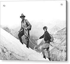 Climbing In The Rockies Acrylic Print
