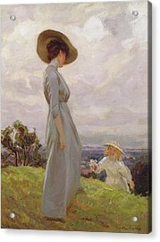 Climbing Up The Hillside Acrylic Print by Frederick Stead