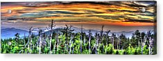 Clingmans Sunset Panoramic Acrylic Print