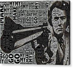 Clint Eastwood Dirty Harry Crop Acrylic Print