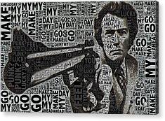 Clint Eastwood Dirty Harry Acrylic Print by Tony Rubino