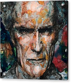 Clint Eastwood Acrylic Print by Laur Iduc