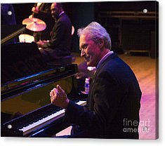 Clint Eastwood On Piano In Monterey Acrylic Print