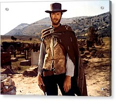 Clint Eastwood Outlaw Acrylic Print by Gianfranco Weiss