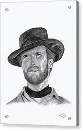 Clint Eastwood Acrylic Print by Patricia Hiltz