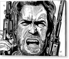 Clint Eastwood Acrylic Print by Ralph Harlow