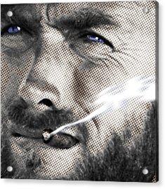 Clint Eastwood Western Acrylic Print by Tony Rubino
