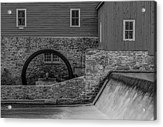 Clinton Red Mill Bw Acrylic Print