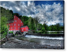 Clinton Red Mill House Acrylic Print by Lee Dos Santos