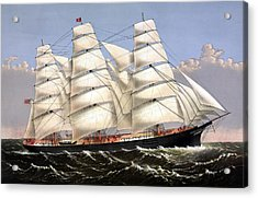 Clipper Ship Three Brothers Acrylic Print