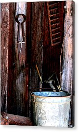 Acrylic Print featuring the photograph Clippers And The Bucket by Lesa Fine