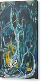 Cloak Of The Ghoul Acrylic Print by Christophe Ennis