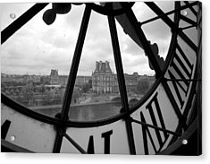 Clock At Musee D'orsay Acrylic Print by Chevy Fleet