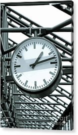 Clock Acrylic Print by Design Windmill
