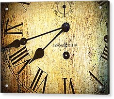 Clock Face Acrylic Print by Suzanne Powers