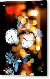 Clock Faces Acrylic Print by Victor Habbick Visions