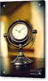 Clock Acrylic Print by HD Connelly