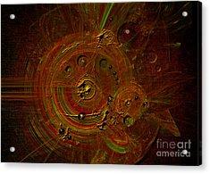 Acrylic Print featuring the digital art Clockwork by Alexa Szlavics