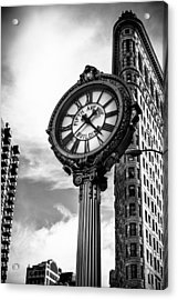 Clock Of Fifth Avenue Building Acrylic Print