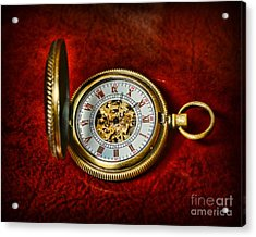 Clock - The Pocket Watch Acrylic Print by Paul Ward