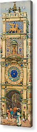 Clock Tower In Saint Mark's Square Venice Acrylic Print by Mountain Dreams