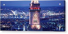 Clock Tower Of The Custom House Acrylic Print by Panoramic Images