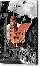 Clock Tower Acrylic Print by Tim Wilson