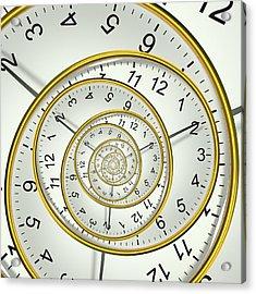 Clockface Spacetime Warp Acrylic Print by David Parker