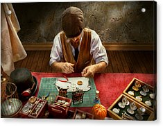Clockmaker - A Demonstration In Horology Acrylic Print by Mike Savad