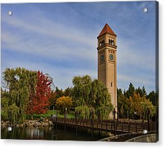 Clocktower Fall Colors Acrylic Print