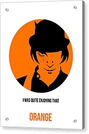 Clockwork Orange Poster 1 Acrylic Print by Naxart Studio