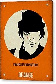 Clockwork Orange Poster Acrylic Print by Naxart Studio