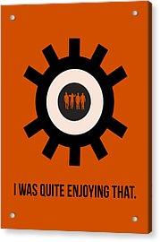 Clockwork Poster Acrylic Print by Naxart Studio