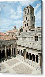 Cloister Of St. Trophime, Church Of St Acrylic Print by Panoramic Images