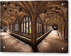 Cloisters At Lacock Abbey Acrylic Print
