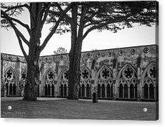 Cloisters Of Salisbury Acrylic Print by Ross Henton
