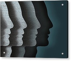 Cloned Faces Acrylic Print