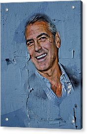 Clooney On Board Acrylic Print