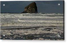 Acrylic Print featuring the photograph Close Haystack Rock by Susan Garren