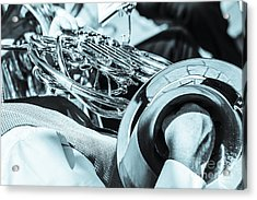 Close Of Male Playing French Horn And Hand Muting Acrylic Print