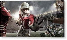 Close Up American Football Action Acrylic Print by Peepo