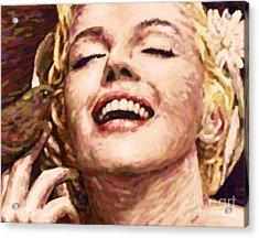 Close Up Beautifully Happy Acrylic Print