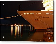 Close Up Cruise Liner At Cobh In Co. Cork Acrylic Print by Maeve O Connell