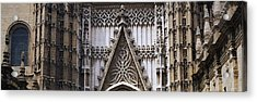 Close-up Of A Cathedral, Seville Acrylic Print by Panoramic Images