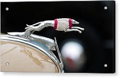 Close-up Of A Hood Ornament Of Fords Acrylic Print