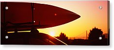 Close-up Of A Kayak On A Car Roof Acrylic Print
